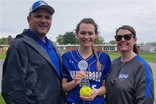 Junior Softball Player Caitlin Reilly Gets 400th Strikeout Against Proctor